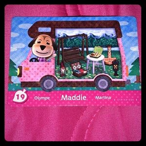 Animal crossing Maddie amiibo card